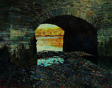 BRIDGE OVER UNTROUBLED WATER Painting