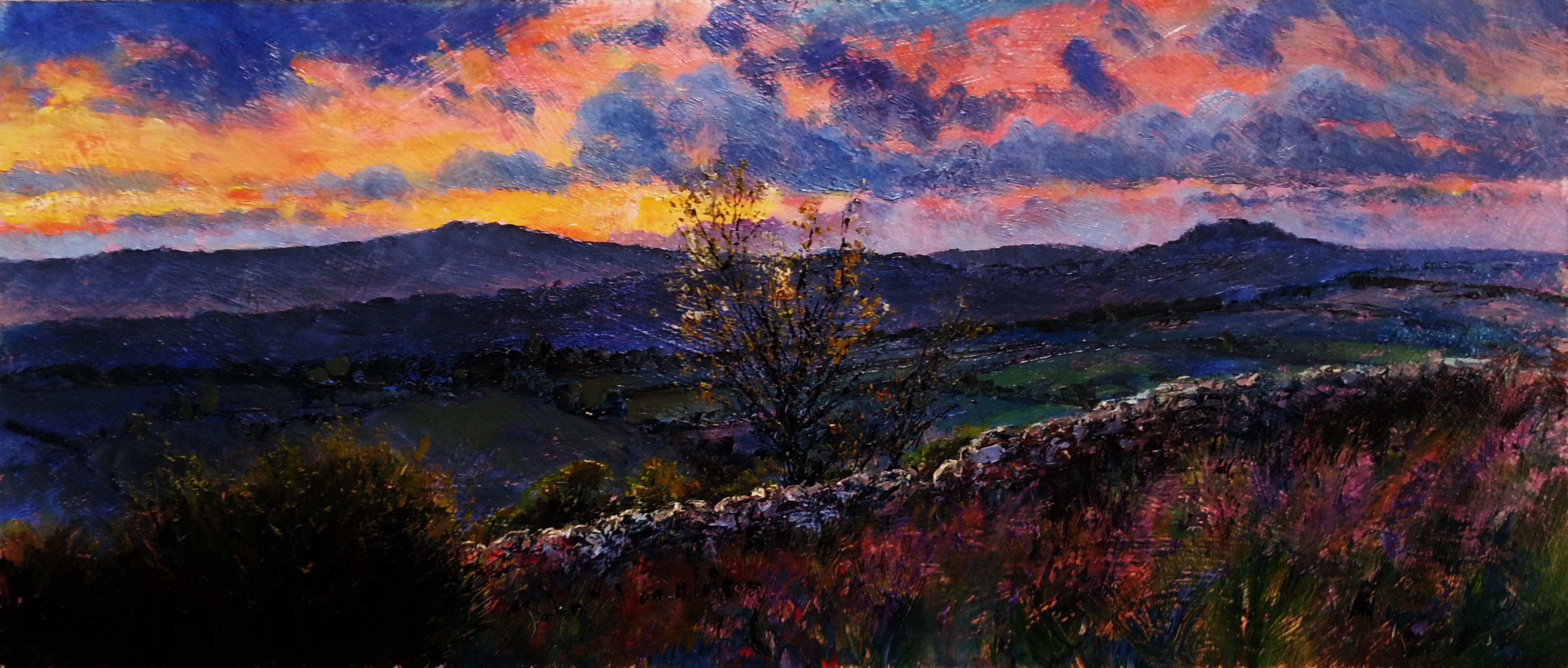 Night Falling over Dartmoor