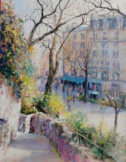 In the Gardens of Montmartre