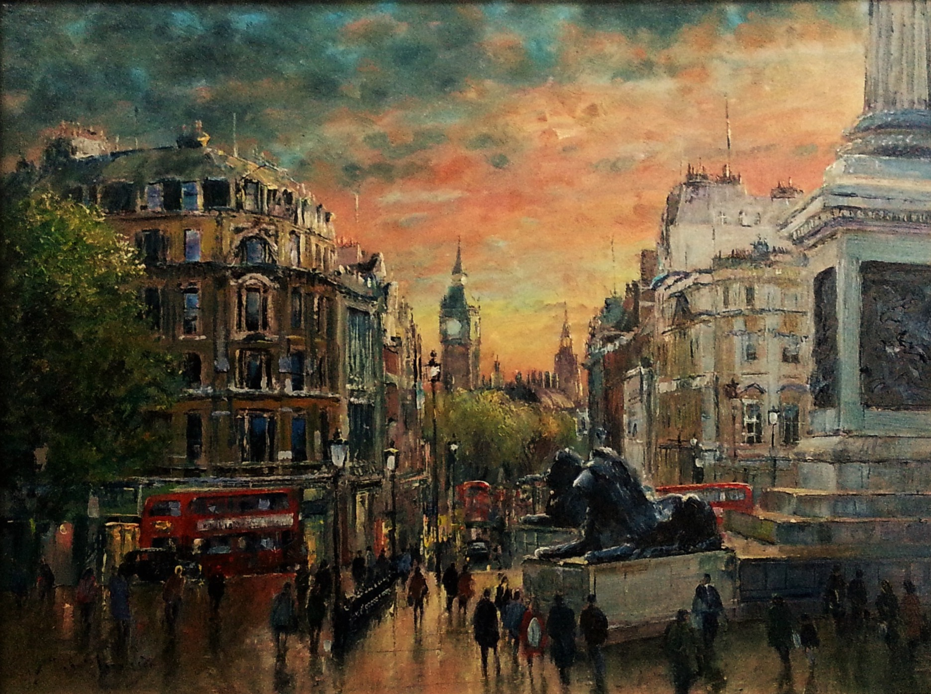 Oil Painting - Trafalgar Square