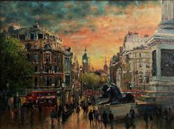 Oil Painting - Trafalgar Square