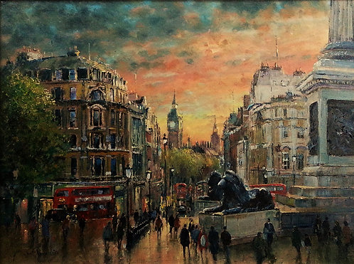 TRAFALGAR SQUARE Framed Painting