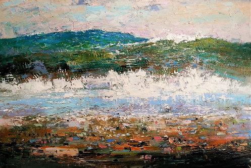 SLAPTON BEACH STUDY Painting