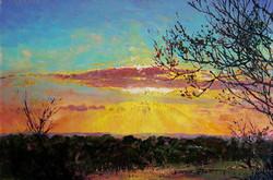 Sunset over Halwell