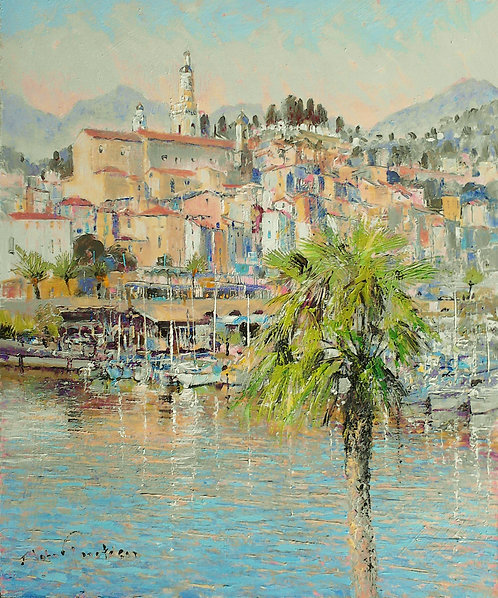 MENTON, NEW YEAR'S DAY Painting