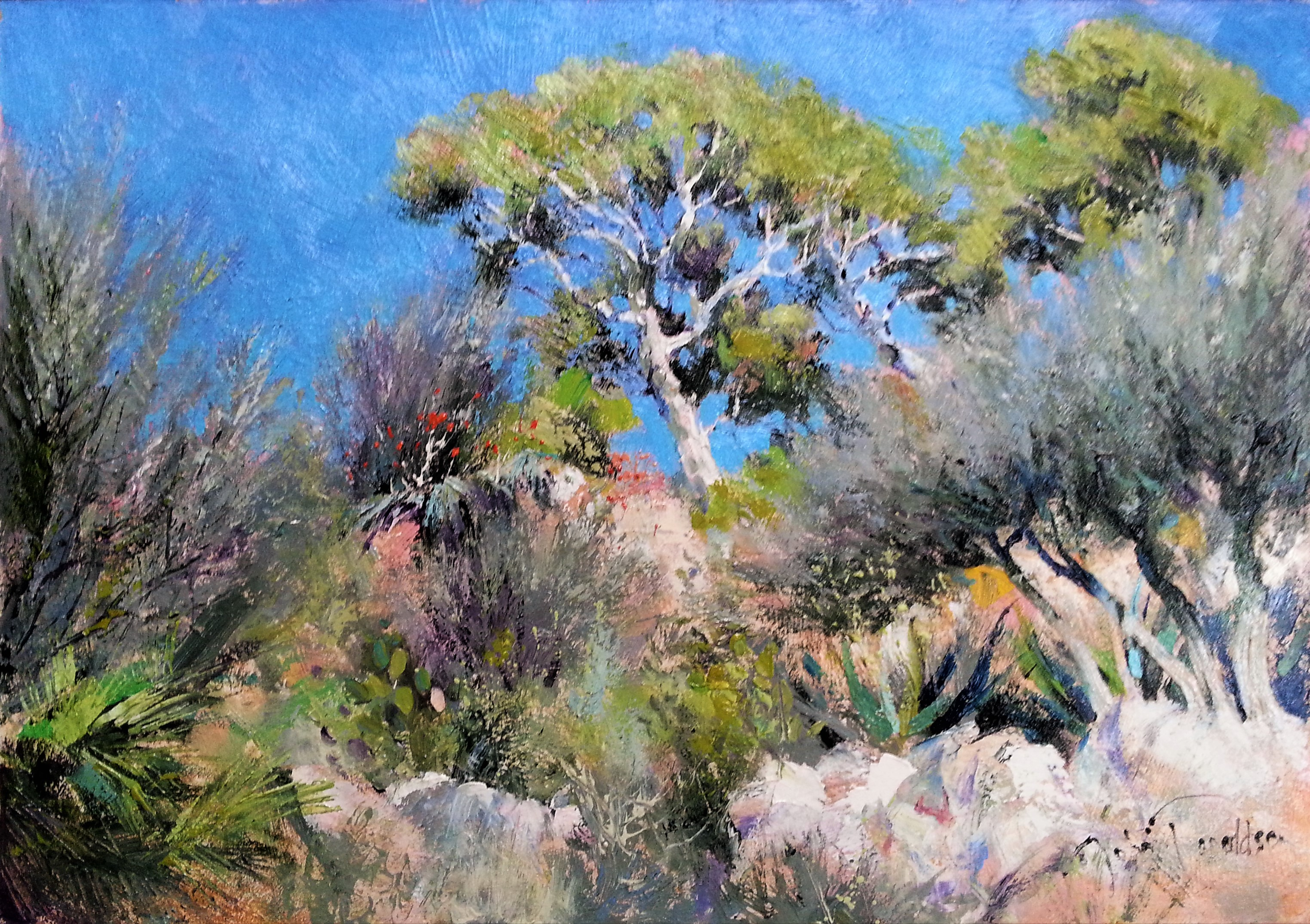 WINTER ON CAP MARTIN Painting