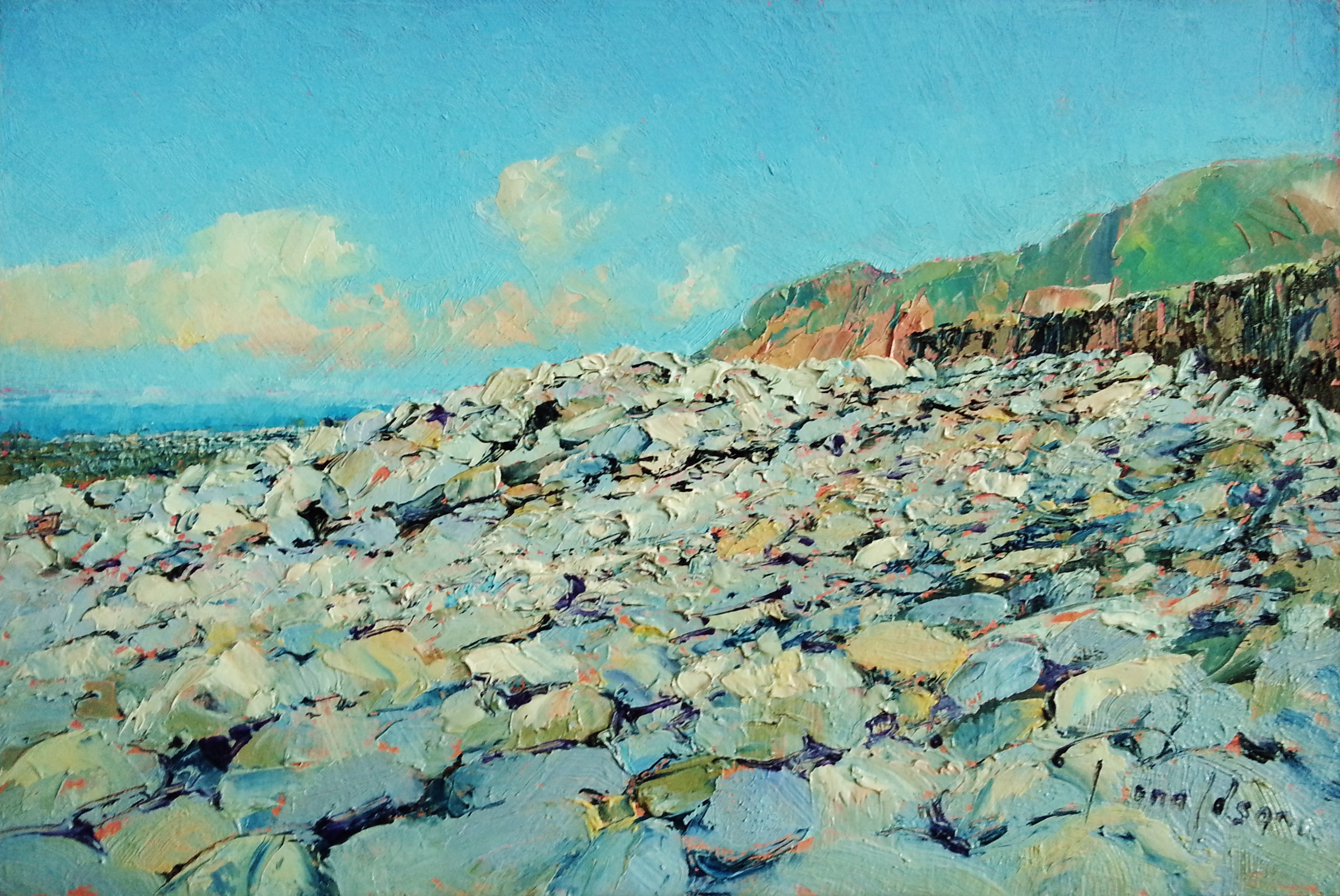 Lynmouth Beach Original Painting