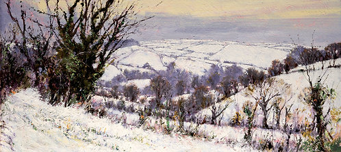 SNOW IN THE SOUTH HAMS Giclee Print