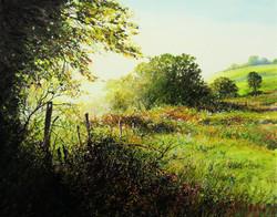 GARA VALLEY MORNING Mixed Media Painting