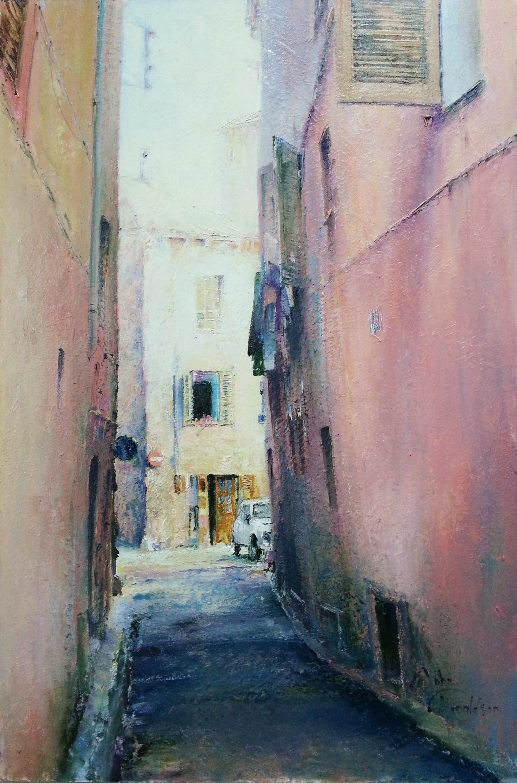 En Bas de la Rue Original Painting