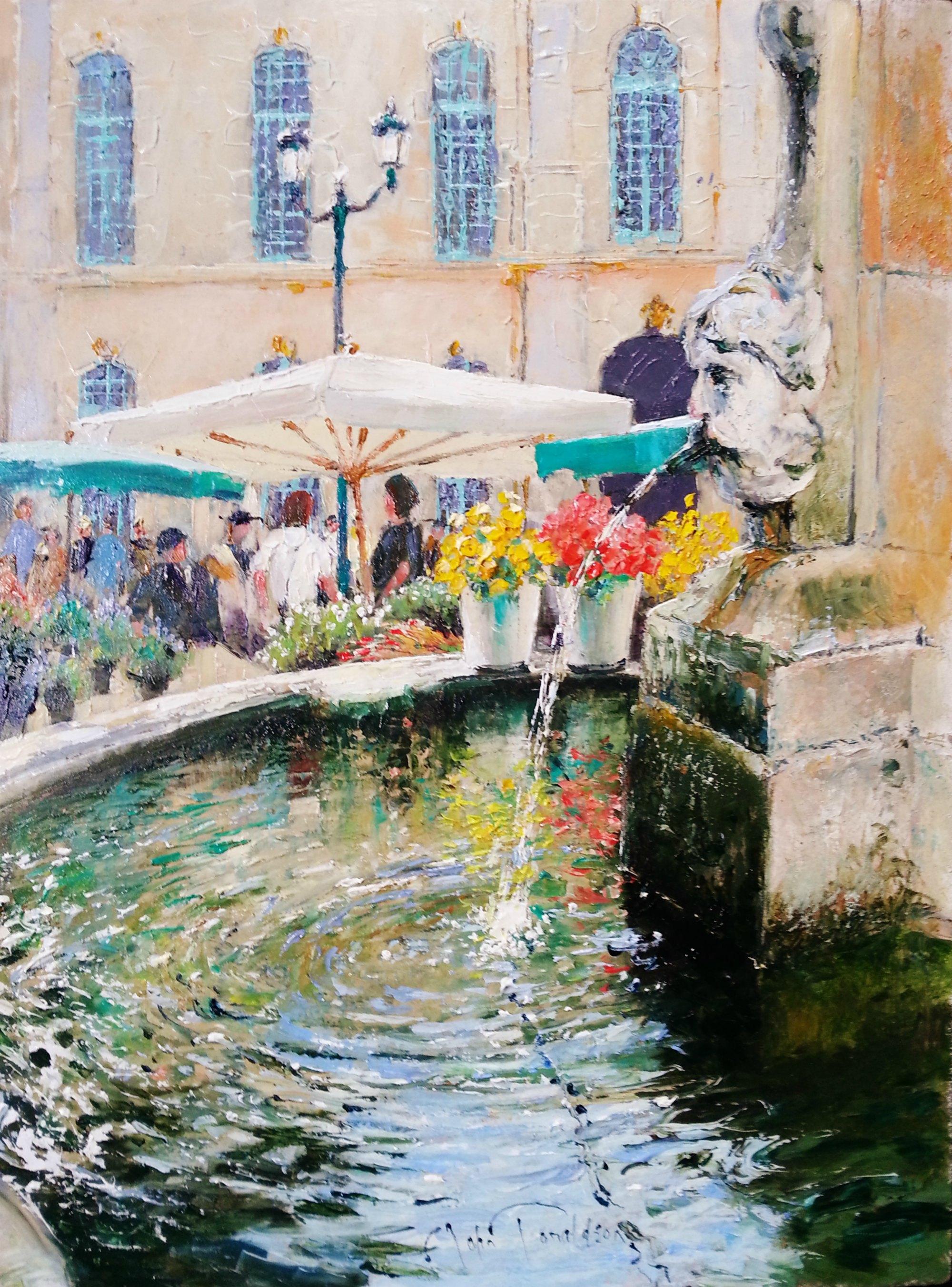 Marche aux Fleurs Original Painting