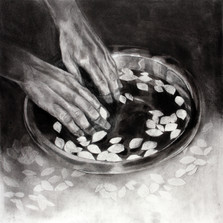 I immerse my hands in my fallen memories I