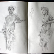 Studies of casts from Galleria dell'Academia in Florence