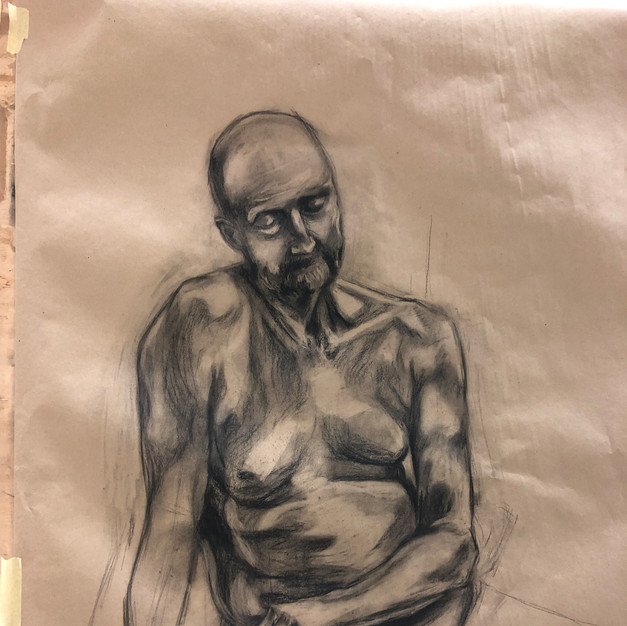 Study of a male body
