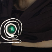 brooch inspired by Art Nouveau