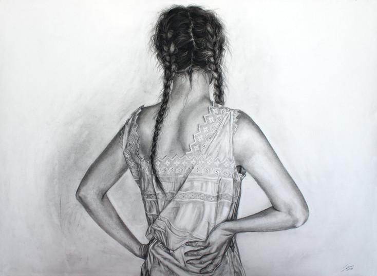 The Innocent smell of the Sun II Zuzanna Salamon charcoal on paper, 70x50cm.JPG