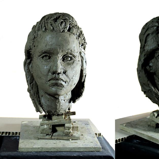 Study of a woman head