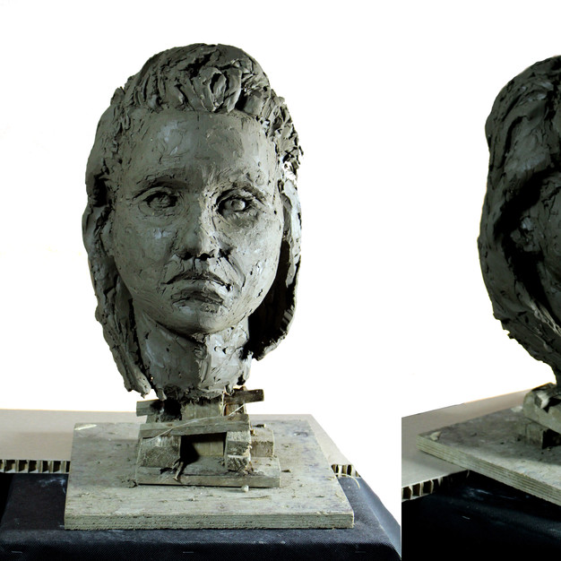 Study of a woman head