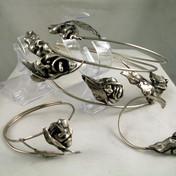Diadem with masks, bracelet and