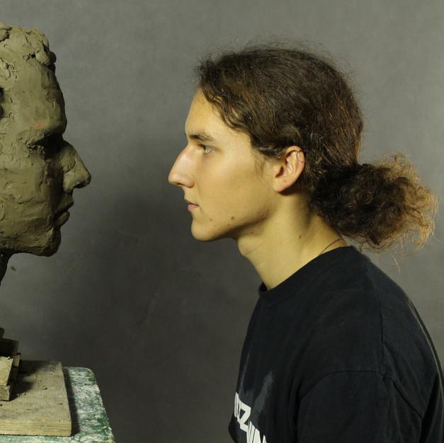 Study of a male head