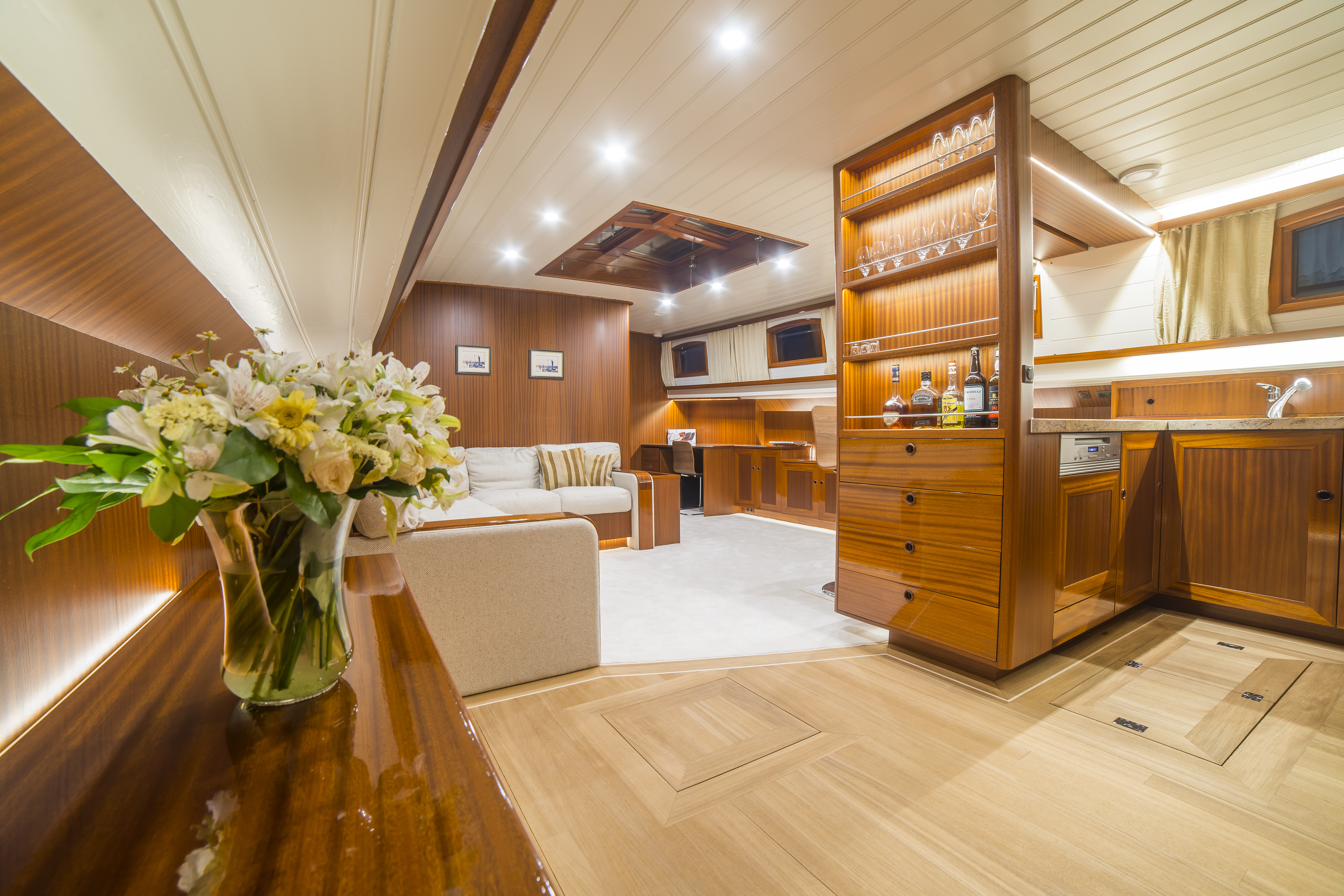 Luxe Barges Wohnraum