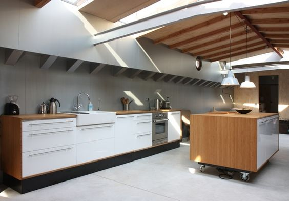 Küchenbereich Umbau eines Frachters