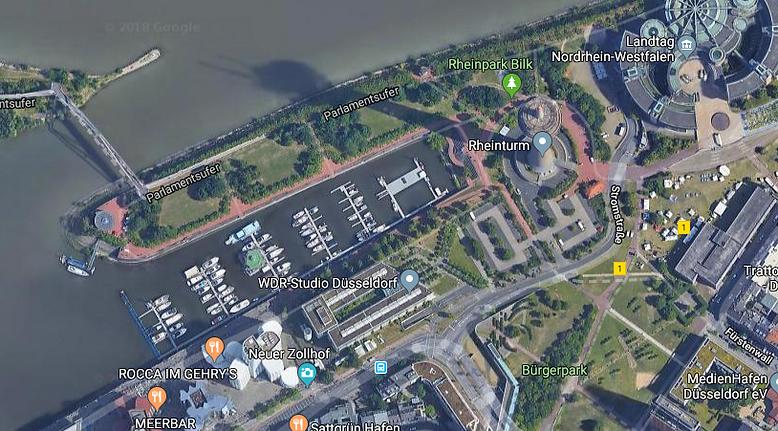 Parkplatz Marina Düsseldorf