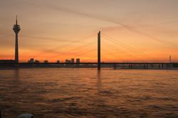 Abendstimmung Düsseldorf