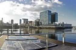 Sonnenenergie Hausboot