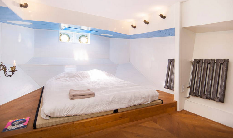Luxe Barge Schlafzimmer