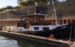Schlepper Lucy in der Marina Düsseldorf