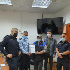 Congratulations to the IDU!! Their search and rescue teams found a missing IDF soldier. Here is a picture of them receiving an award from the Israeli Police