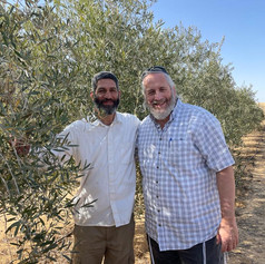L-R: Gal and Shmuel in the organic olive grove of Be'er Milca. What an honor it was to meet this amazing man!