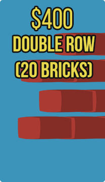 Double Row (20 bricks) (Eish Kodesh)