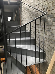 RAW WAX METAL SPRIAL STAIRCASE