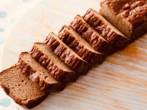 Pão de banana saudável e sem glúten