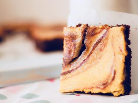 Brownies cheesecake de abóbora