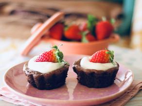 Uns muffins brownie perfeitos para comer a dois