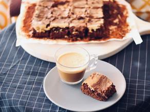 Brownie cheesecake de café