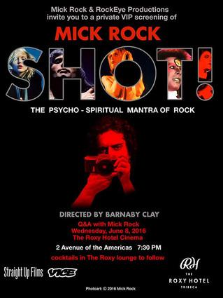 Retrouvez l'univers de MICK ROCK grâce au film SHOT, starring MICK ROCK (long métrage 93').