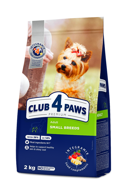 CLUB 4 PAWS Premium for Small Breeds - 2 kg