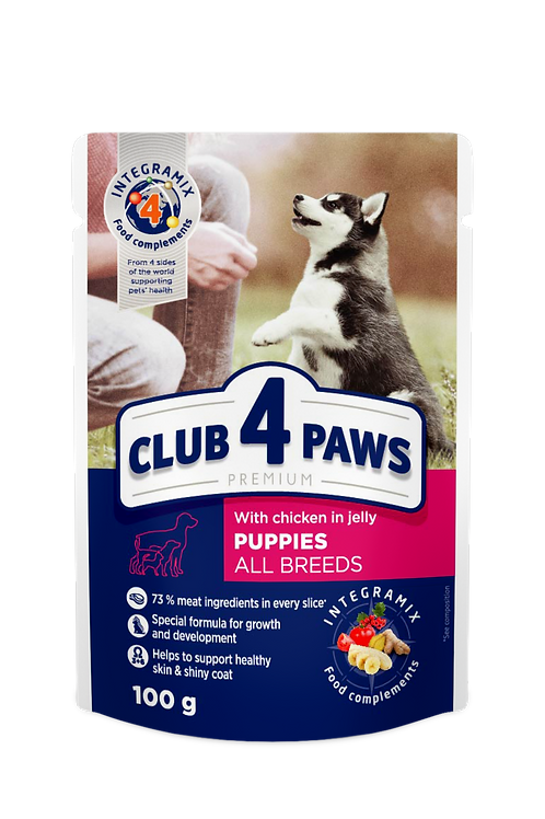 CLUB 4 PAWS Premium for Puppies - Chicken in Jelly - 100g