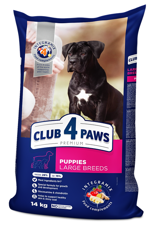 CLUB 4 PAWS Premium for Puppies - Large breeds