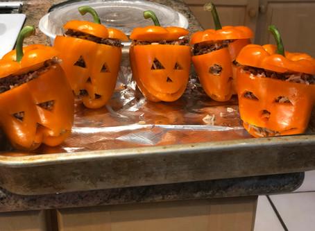 Venison pumpkin peppers