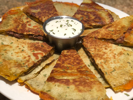 Venison Steak Quesadillas