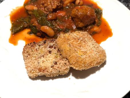 Fried polenta squares