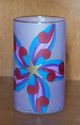 Abstract Design with Gold Star Candleholder