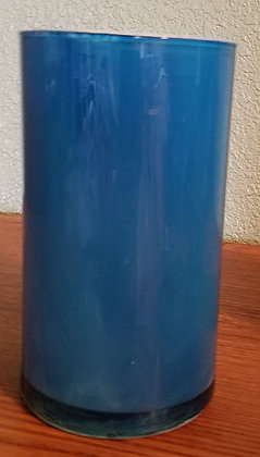 Blue & Teal Marbled Vase