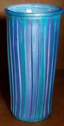 Irridescent Tall Glass Vase