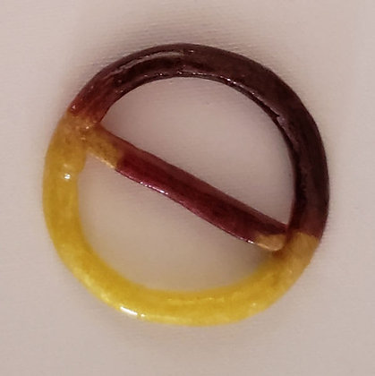 Yellow & Bronze Scarf Ring